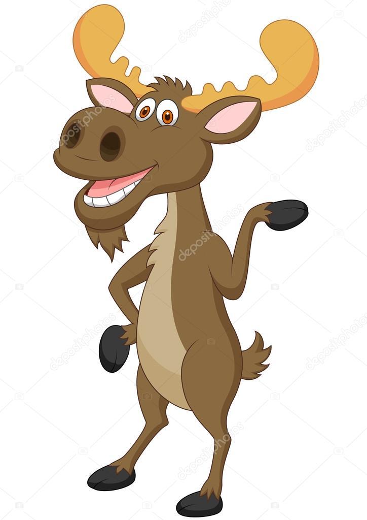 funny moose cartoon stock vector tigatelu 25419795 rh depositphotos com funny cartoon moose pictures cartoon moose pictures