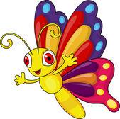 Fotografia cartone animato carino farfalla