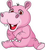 Photo Cute hippo cartoon
