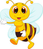 Photo Cute bee cartoon