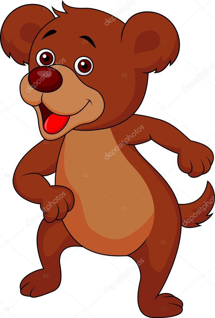 urso marrom bonito dos desenhos animados vetor de stock tigatelu