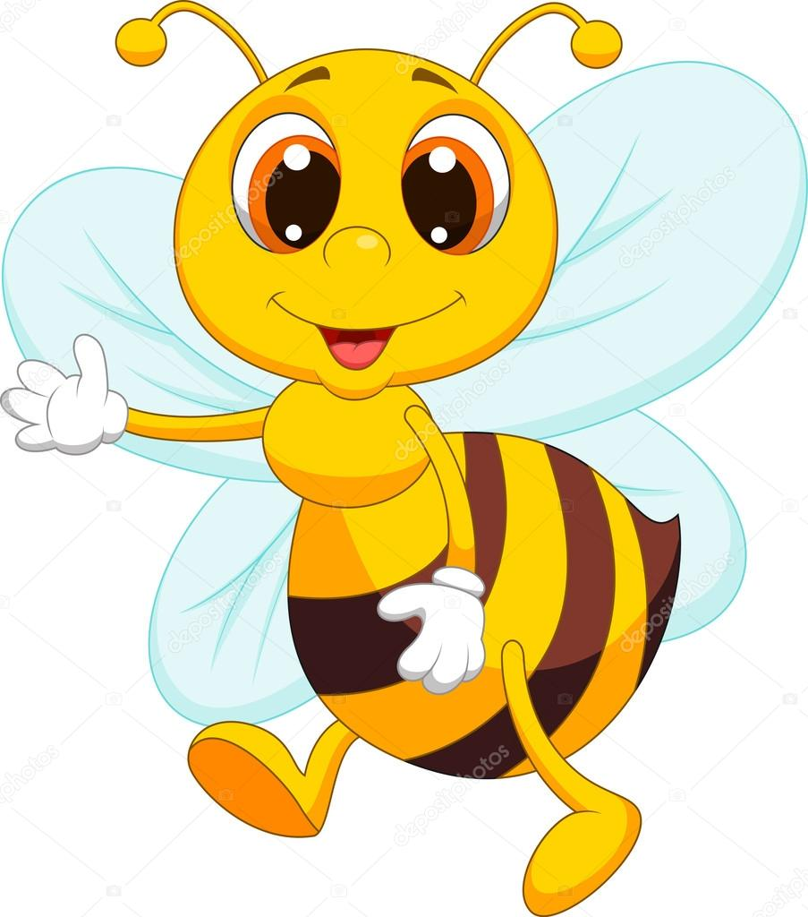Cute Bee Cartoon Stock Vector C Tigatelu 27368769