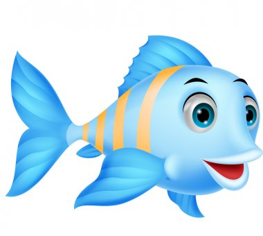 Download Blue Fish Cartoon Vector Free Vector Eps Cdr Ai Svg Vector Illustration Graphic Art