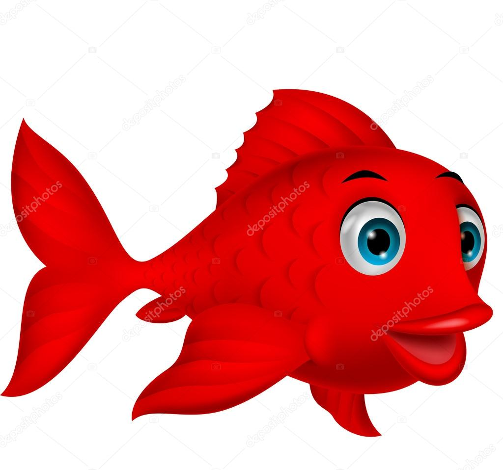 Cute fish cartoon — Stock Vector © tigatelu #27374489