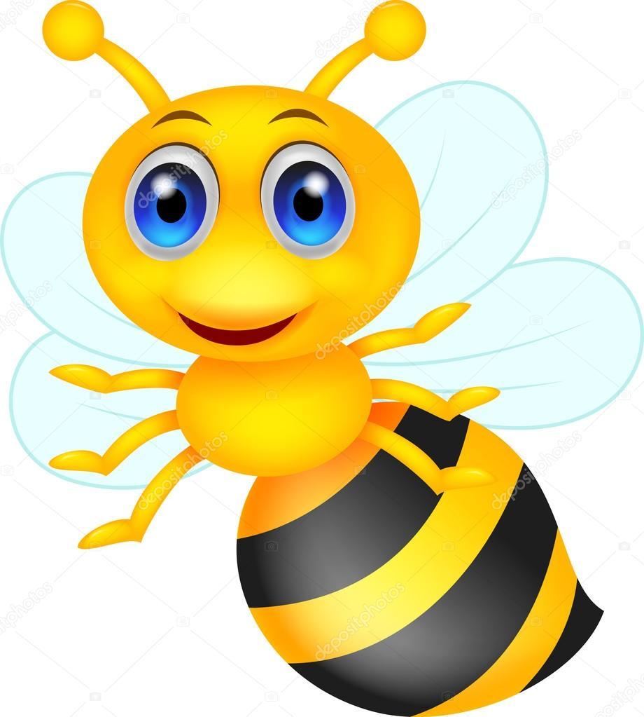 Stock Illustration Cute Bee Cartoon