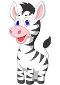 Photo Cute baby zebra cartoon