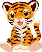 Fotografie Cute baby tiger cartoon