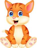 Photo Cute baby cat cartoon