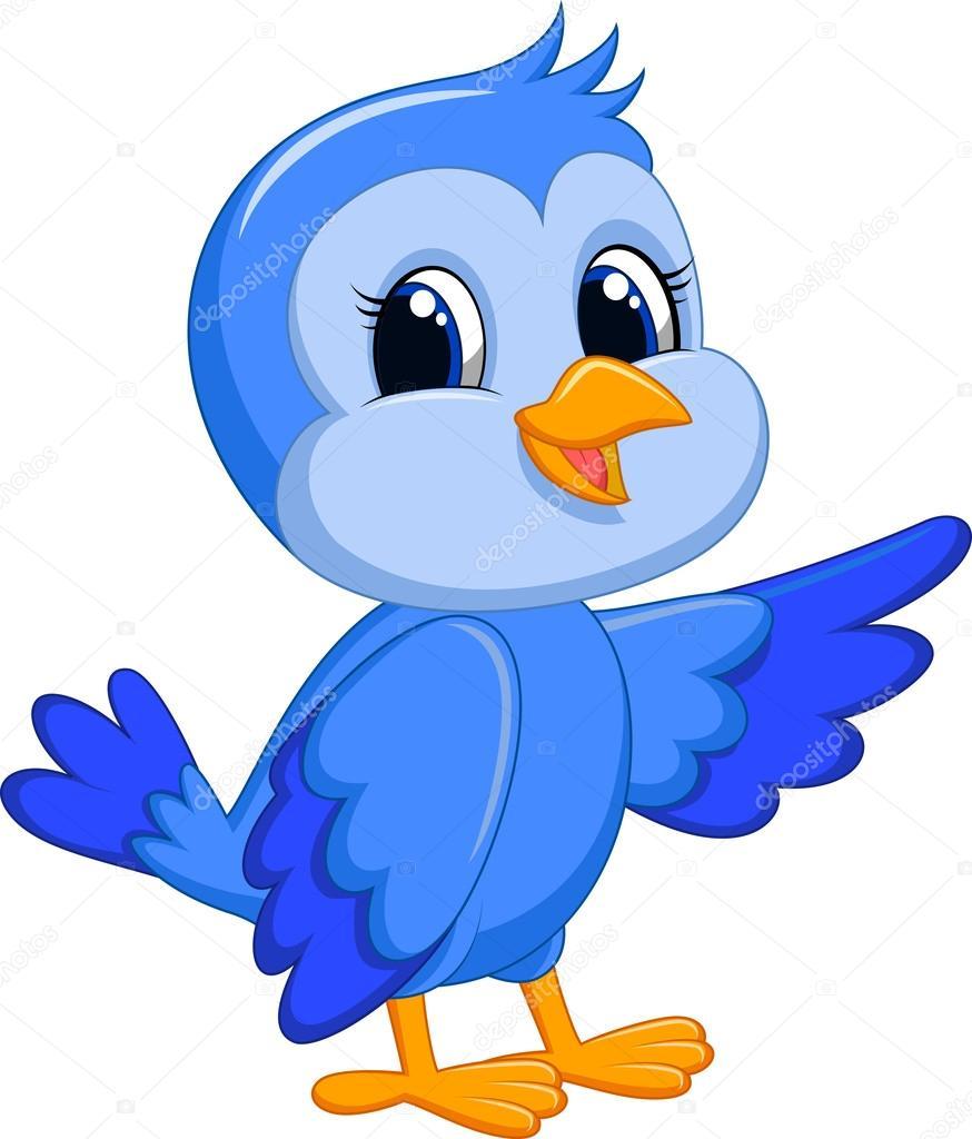 Dibujos Animados De Pájaro Azul Archivo Imágenes Vectoriales