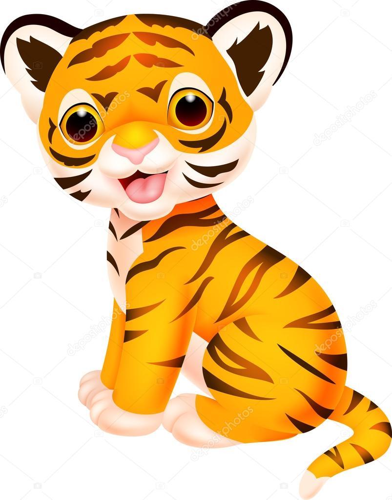 Mignon b b tigre dessin anim image vectorielle - Bebe tigre mignon ...