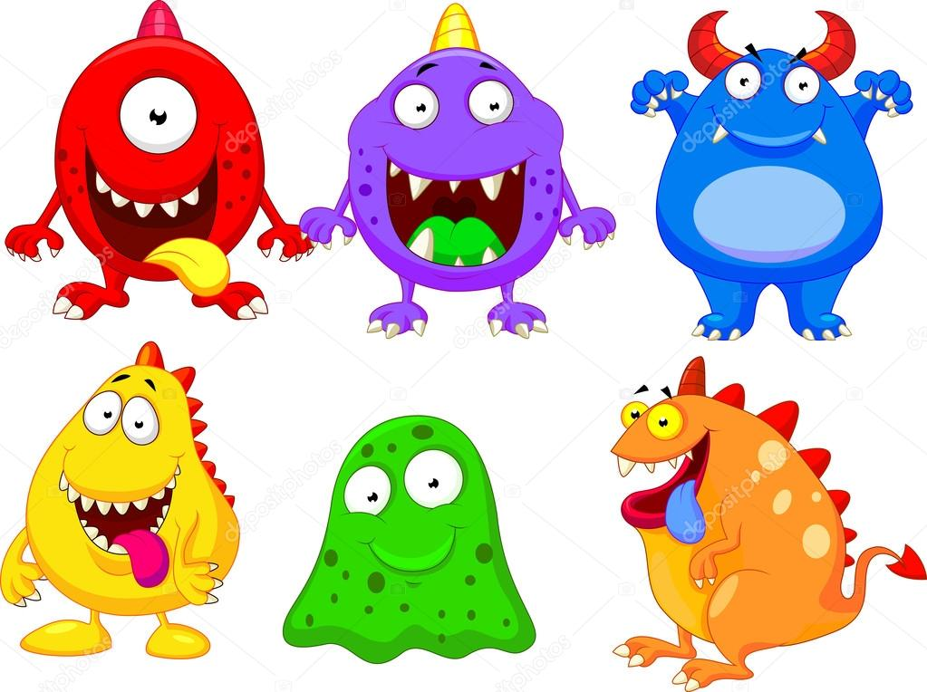 Cute monster collection set