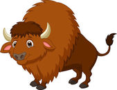 Photo Cute bison cartoon