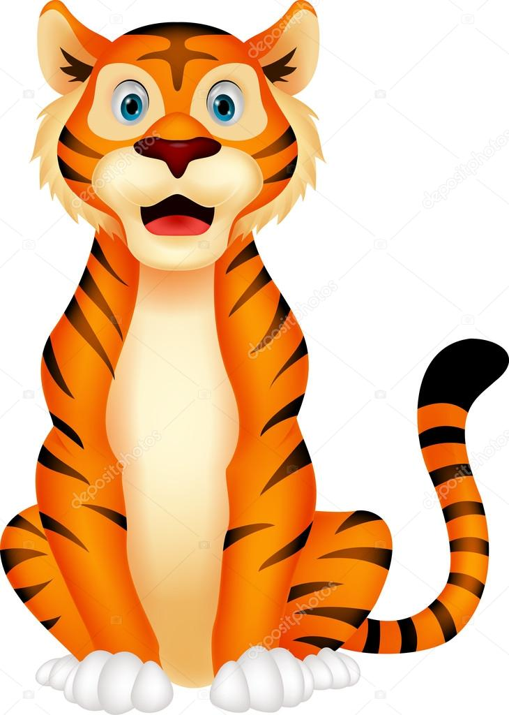 cute tiger cartoon sitting stock vector  u00a9 tigatelu 27976833 cute tiger face clipart cute tiger face clipart black and white