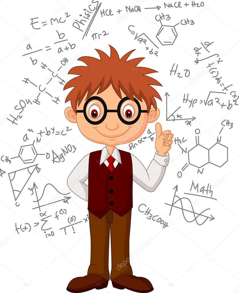 Smart boy cartoon
