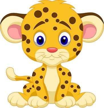 Cute leopard cartoon