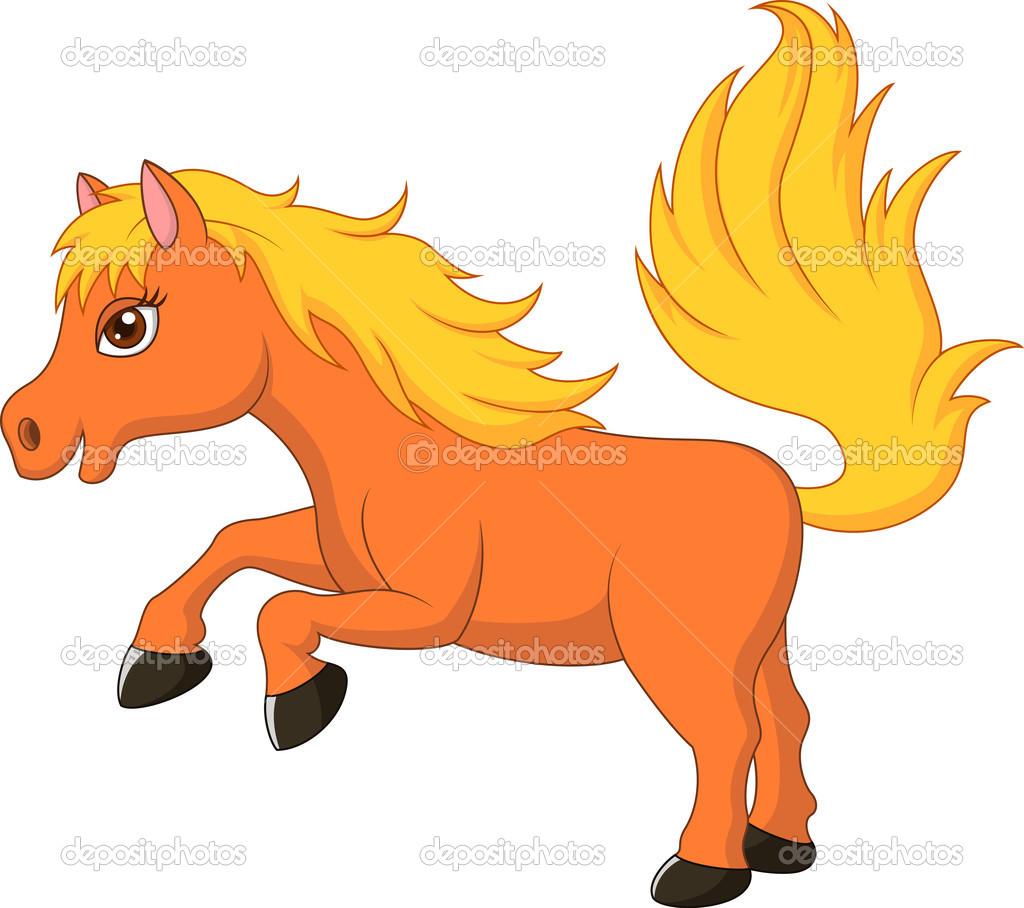 Cute Pony Horse Cartoon Stock Vector C Tigatelu 32224983