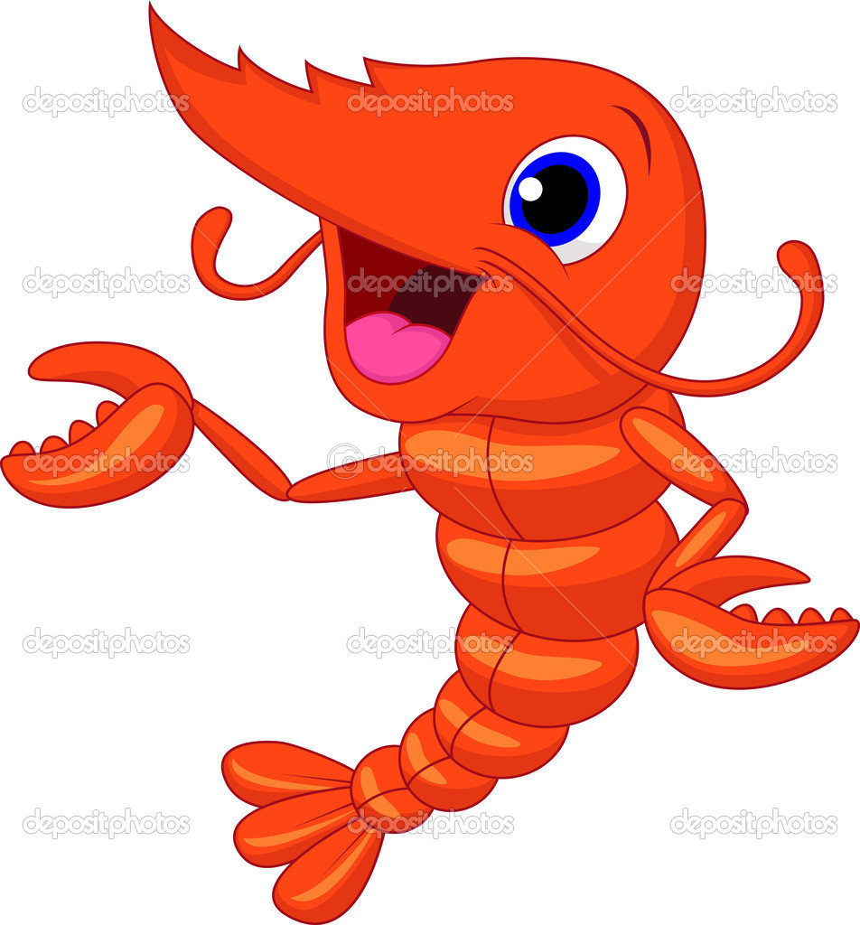 funny shrimp cartoon stock vector tigatelu 32864189 rh depositphotos com Steamed Shrimp Cartoon Clip Art Under the Sea Clip Art