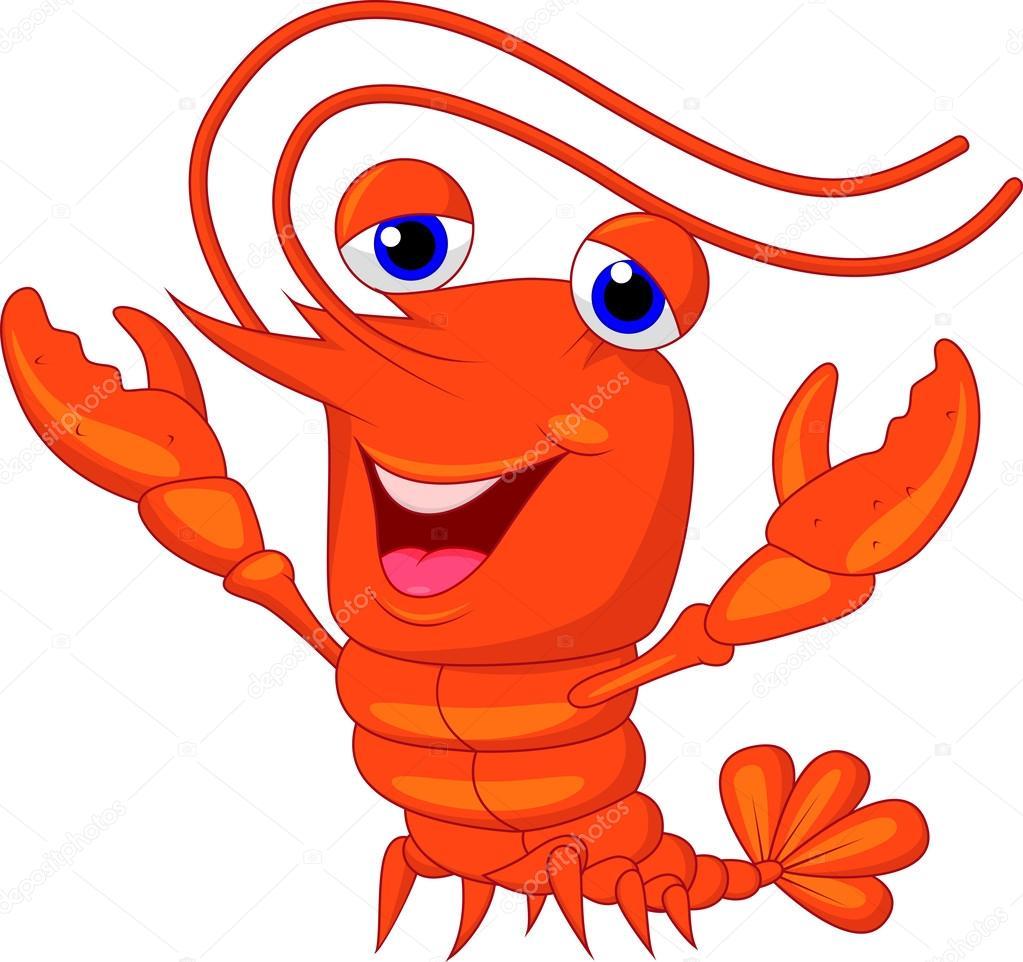 Cartone animato carino aragosta — vettoriali stock