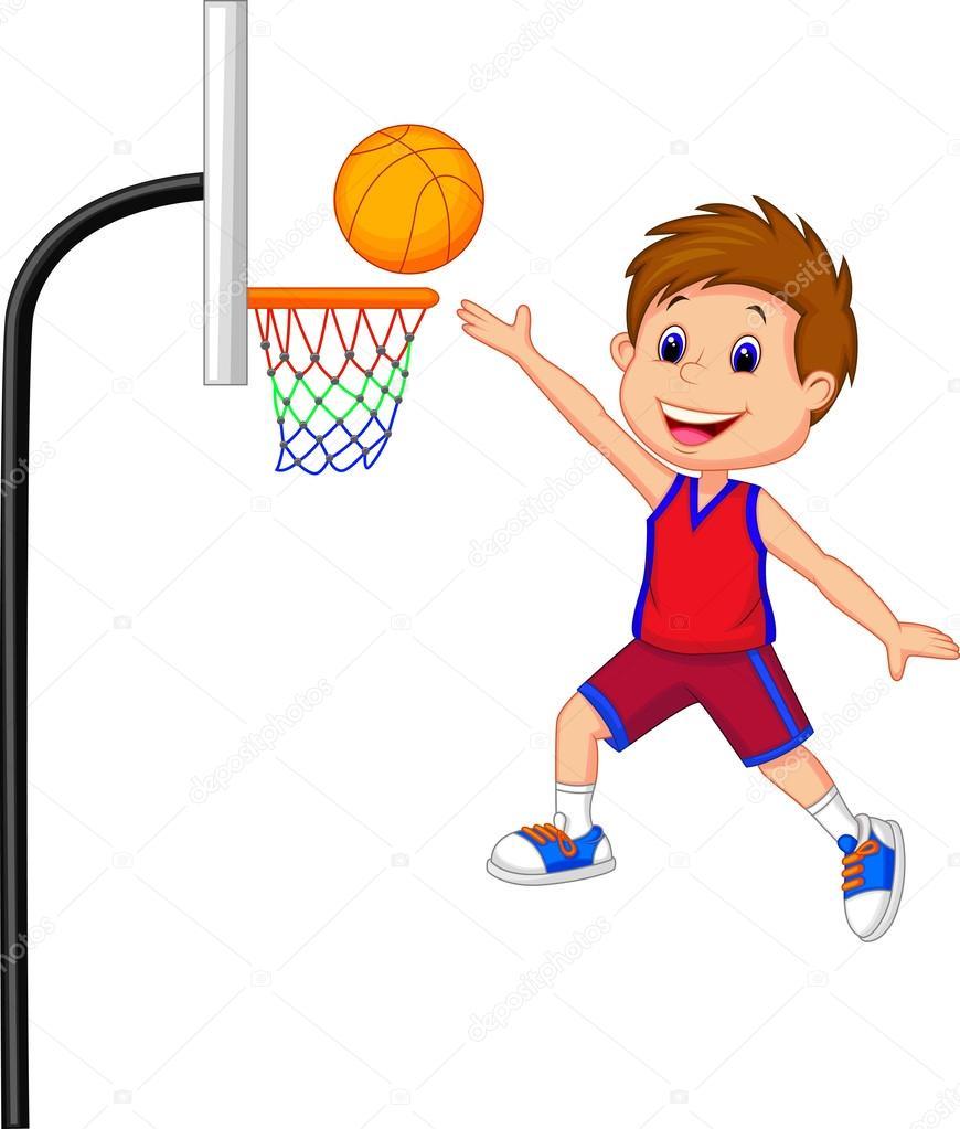 boy playing basketball stock vector tigatelu 32962223. Black Bedroom Furniture Sets. Home Design Ideas