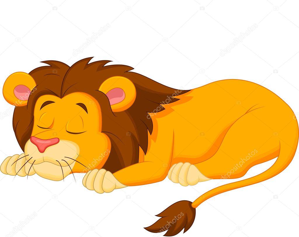 Lion dessin anim dormir image vectorielle tigatelu 33876799 - Dessin facile lion ...