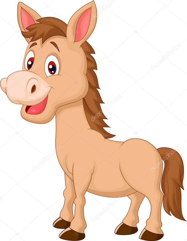 Cute donkey cartoon — Stock Vector © tigatelu #33882131