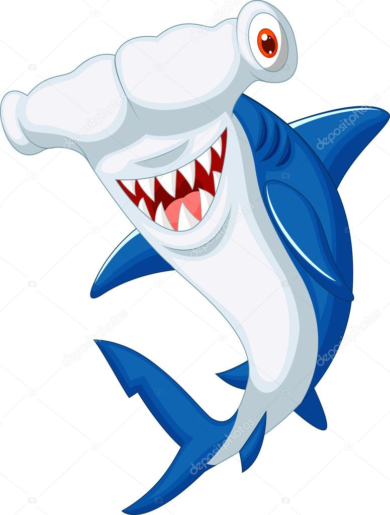 Cute hammerhead shark | Cute hammerhead shark cartoon ...