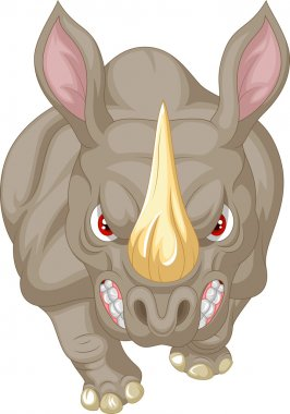 Angry rhino cartoon