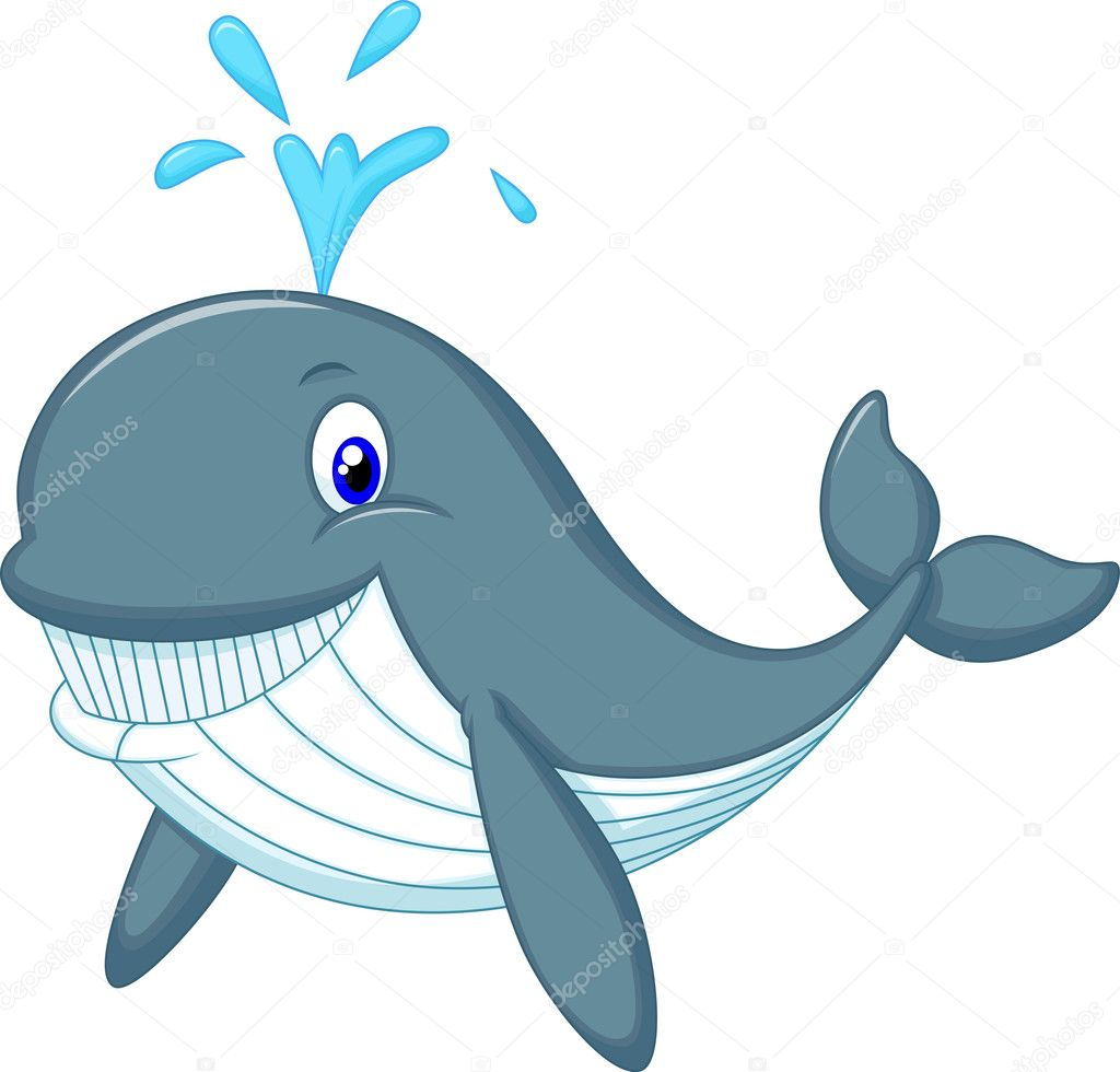 Cute whale in water cartoon isolated illustration stock photography - Cute Whale Cartoon Isolated On White Background Vector By Tigatelu Find Similar Images