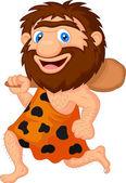 Funny caveman cartoon running
