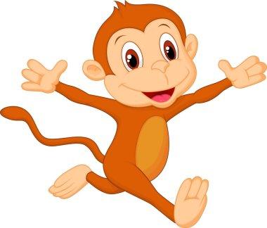 Happy monkey cartoon running