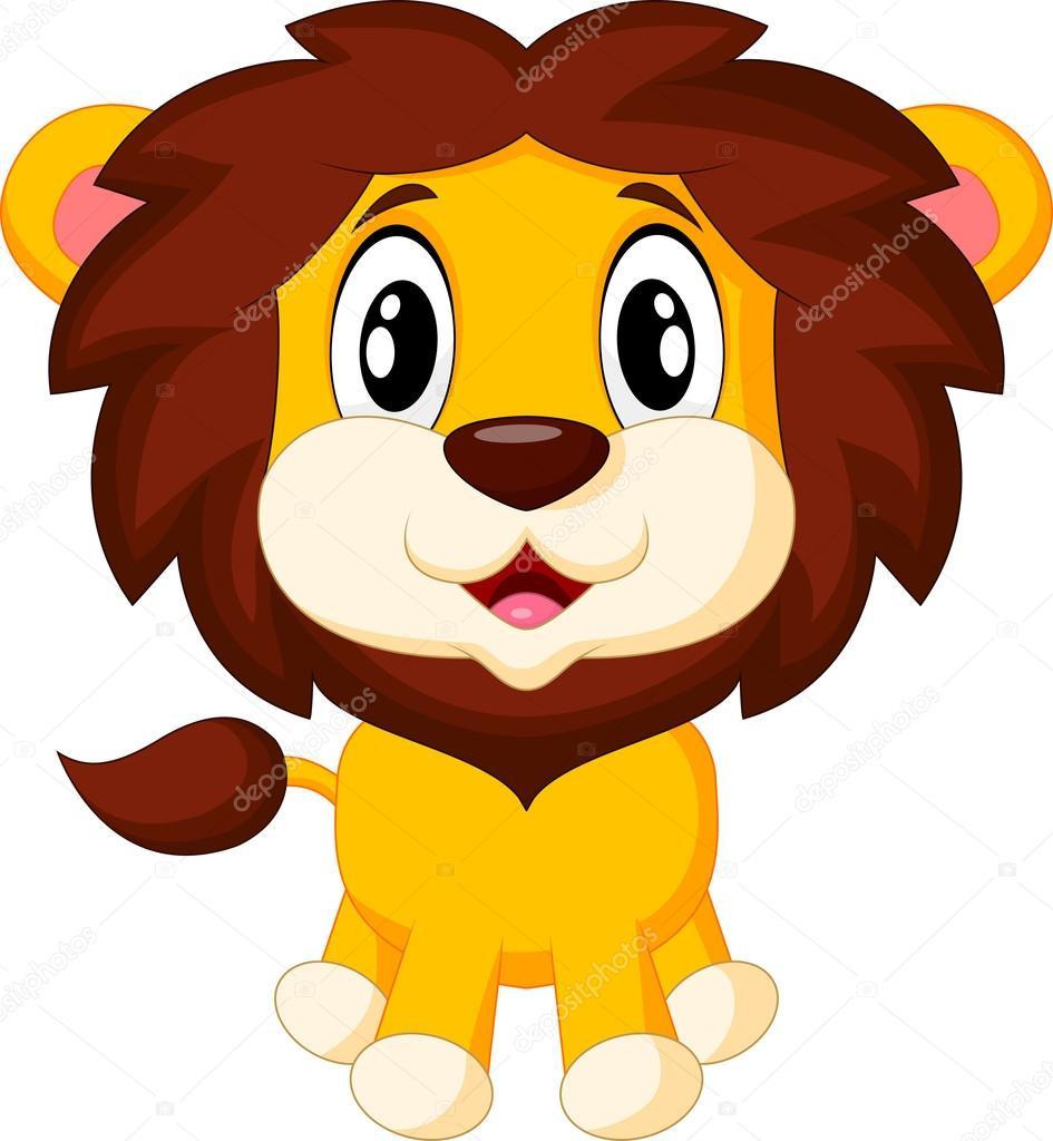 Cartone animato carino leone — vettoriali stock tigatelu