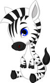 Photo Cute baby zebra