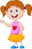 Photo Cute girl cartoon