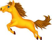 Krásný zlatý kůň běží