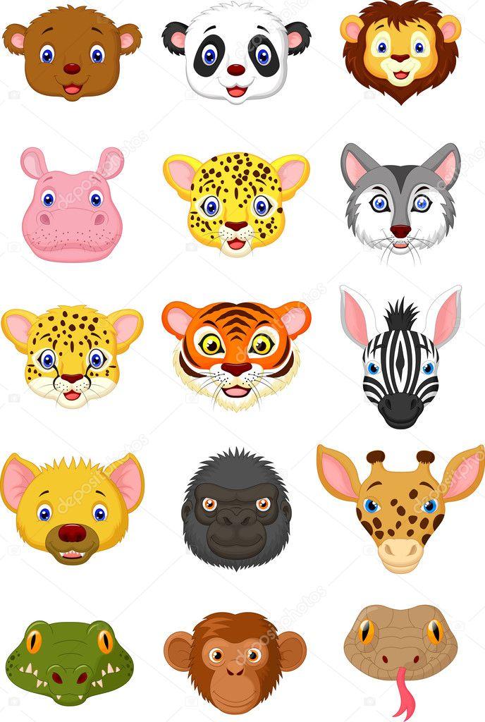 нужно сделать, мордочки животных в детских картинках предложение