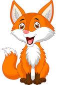 Photo Cute fox cartoon