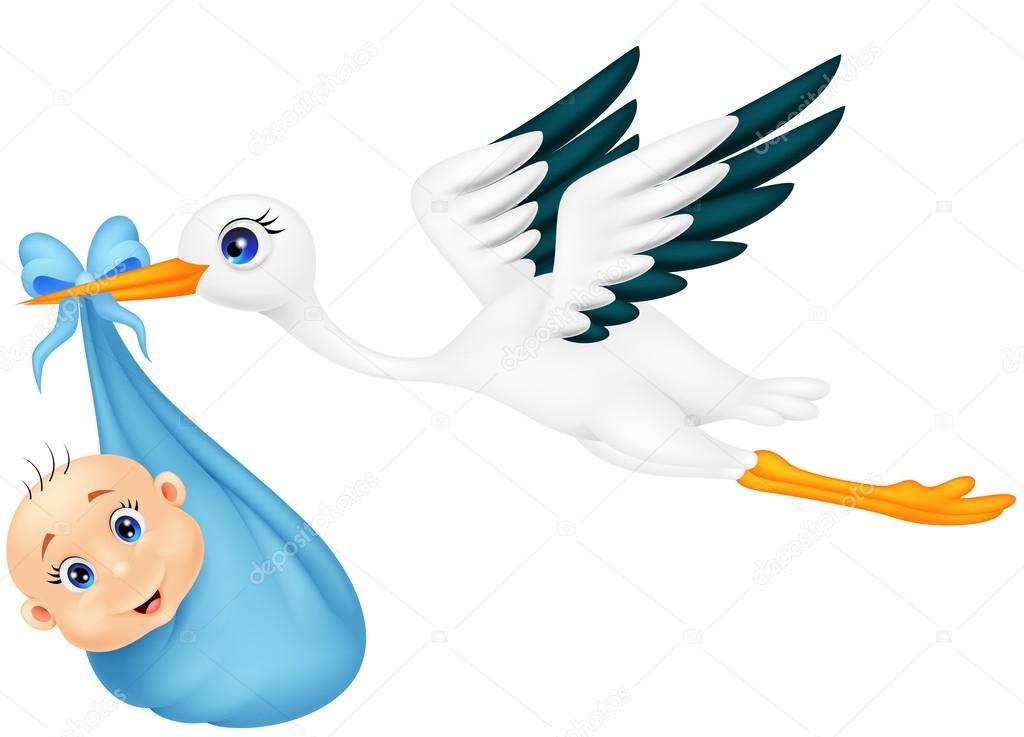 carregando beb u00ea cegonha de desenho animado vetor de baby stork clip art Baby Shower Clip Art