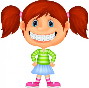 Little girl with brackets