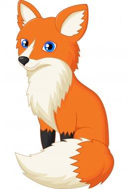 Red Fox cartoon stock vector