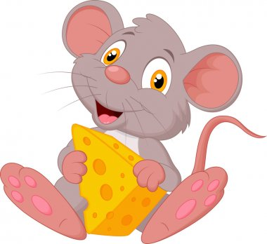 Mouse holding cheese