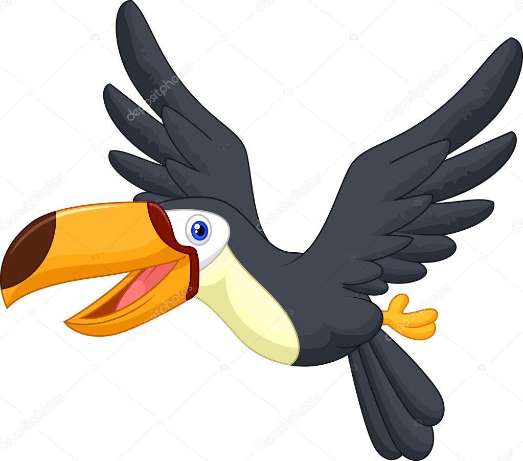 pájaro Tucán volando — Vector de stock © tigatelu #44735613