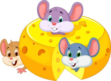 Mouses inside cheese