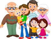 šťastný karikatura rodina