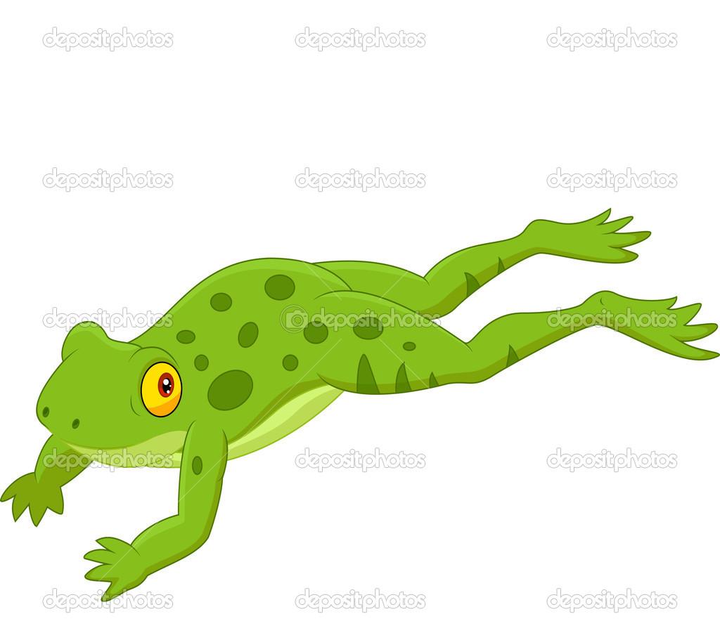 mignon grenouille qui saute image vectorielle tigatelu cute frog clipart Frog Clip Art Black and White