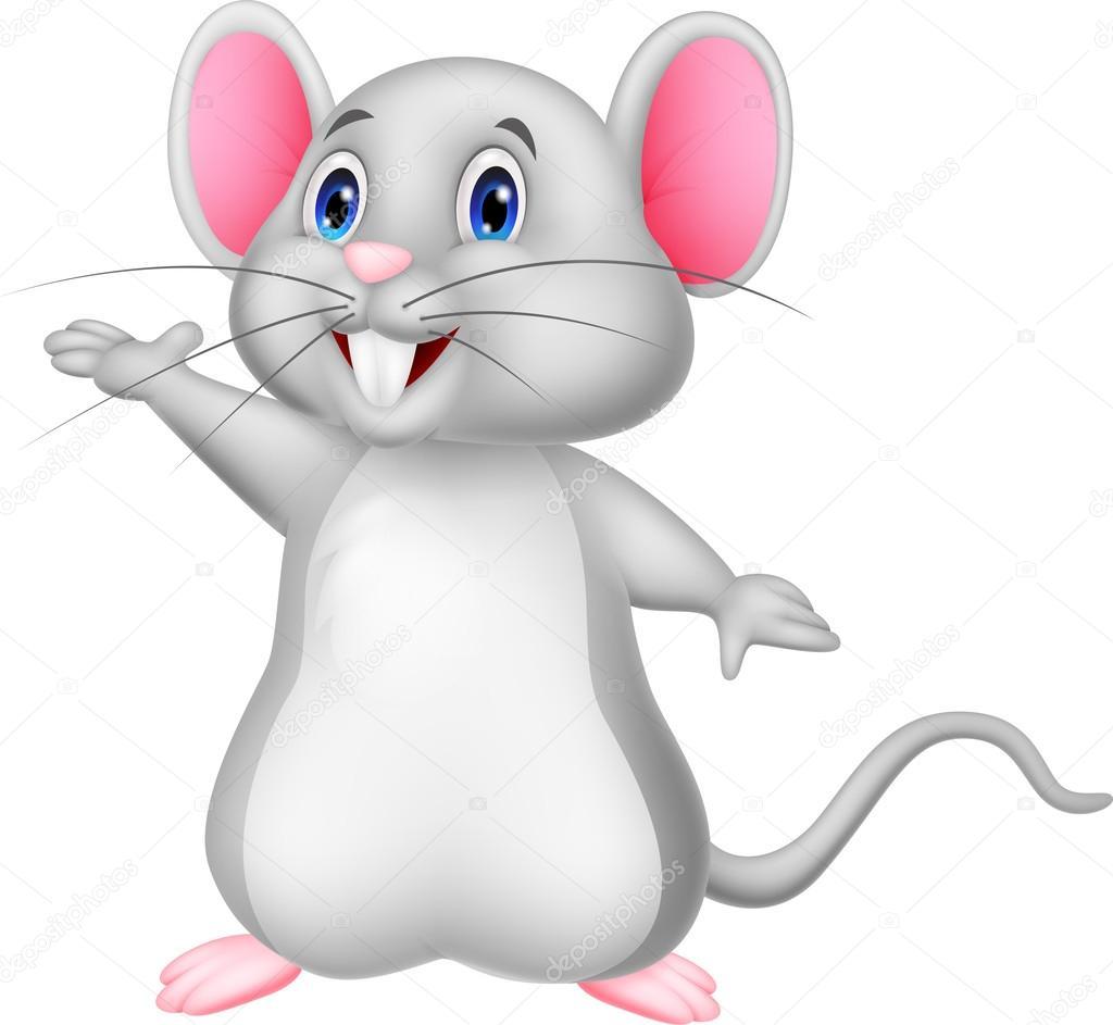 Animado Dibujo De Raton Saludando De Dibujos Animados