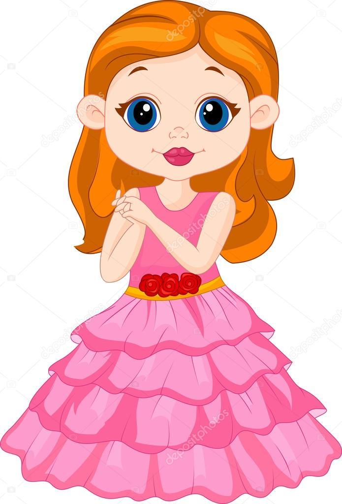 Beautiful Girl Cartoon Stock Vector C Tigatelu 49596383