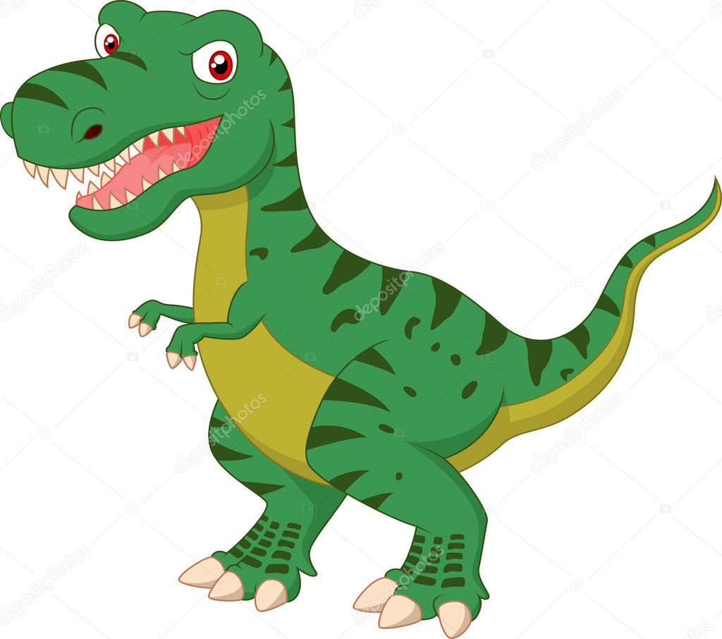 Cartone animato lanterna verde : Cartone animato tirannosauro — vettoriali stock tigatelu