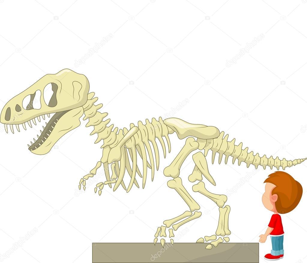 esqueleto del dinosaurio — Archivo Imágenes Vectoriales © tigatelu ...