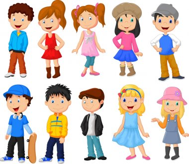 Cute children cartoon collection
