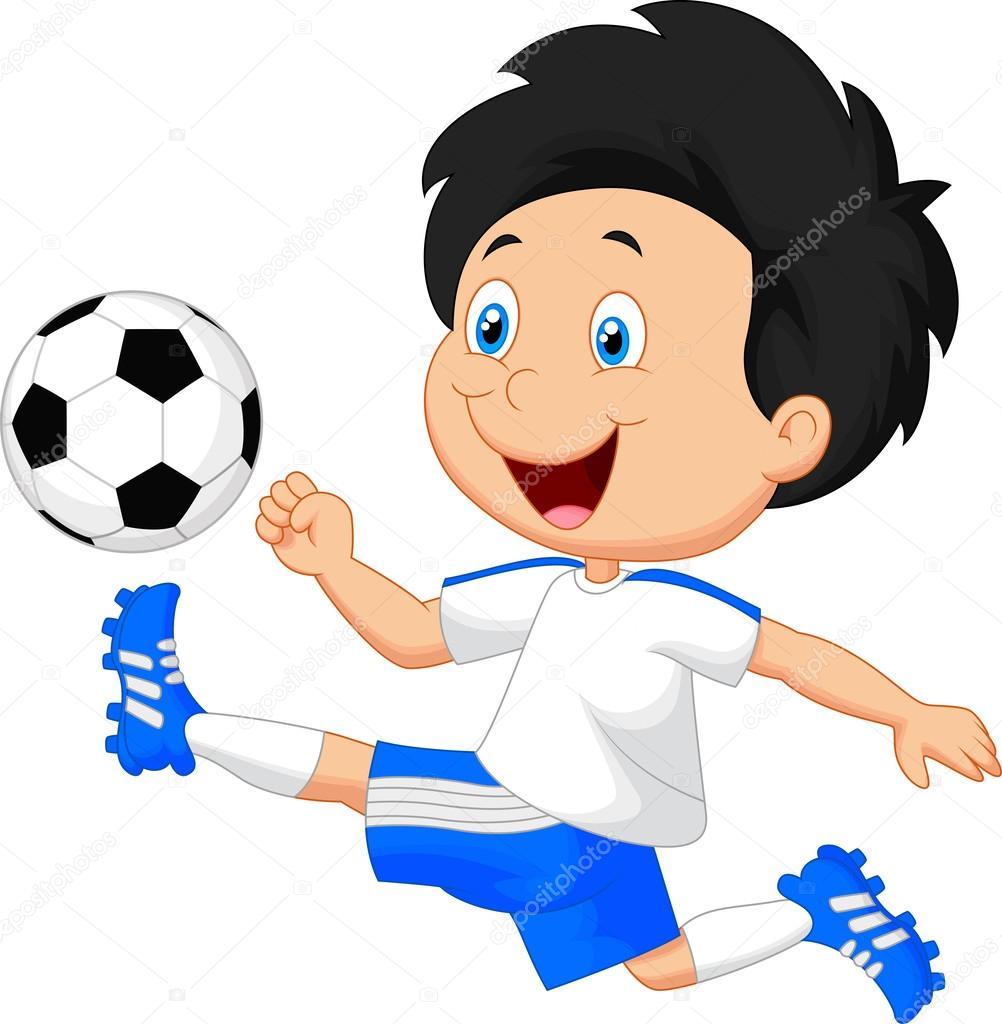 Nino Jugando Al Futbol Archivo Imagenes Vectoriales C Tigatelu